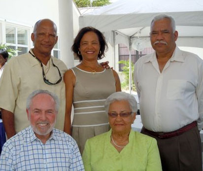 Whittaker family with David Collins